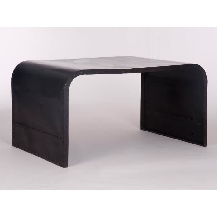 bureau dunce en m tal noir achat vente bureau bords arrondis traces d 39 usu cdiscount. Black Bedroom Furniture Sets. Home Design Ideas