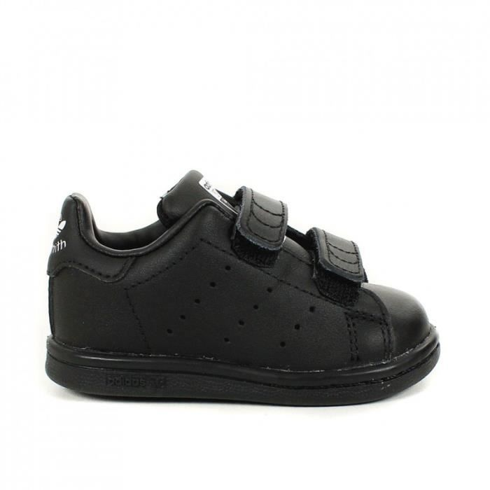 basket adidas stan smith enfant noir noir achat vente basket cdiscount. Black Bedroom Furniture Sets. Home Design Ideas