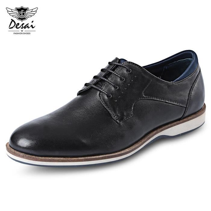 Desai Affaires Pointu élégant Casual Shoes en cuir véritable Toe 9Vxs5qy