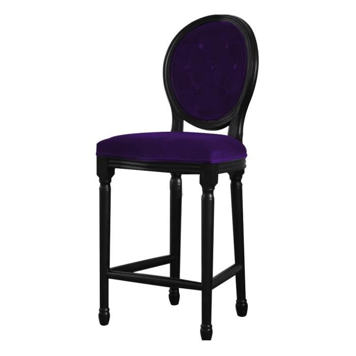 tabouret chaise de bar velours capitonn auberg achat. Black Bedroom Furniture Sets. Home Design Ideas