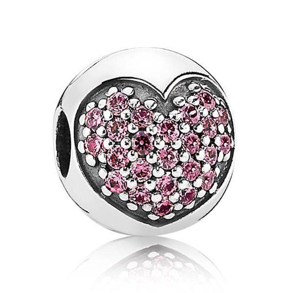 pandora charms coeur rose