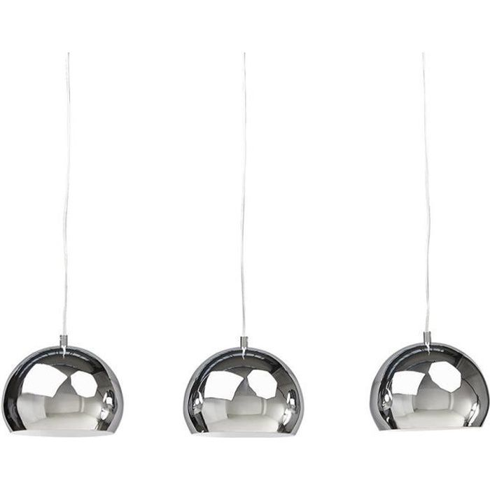 paris prix lampe suspension 3 boules kor chrome. Black Bedroom Furniture Sets. Home Design Ideas