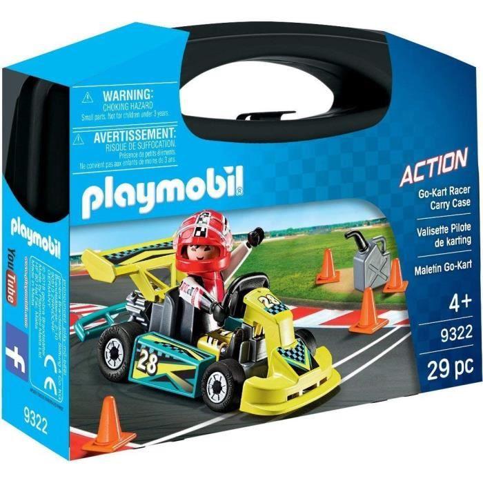 UNIVERS MINIATURE PLAYMOBIL 9322 - Action - Valisette Pilote de Kart