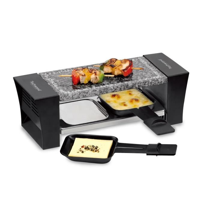 techwood trd 226 appareil raclette duo 2 po lons fournis 380w noir achat vente. Black Bedroom Furniture Sets. Home Design Ideas