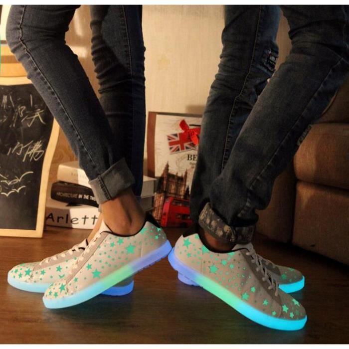7 Couleur Unisexe Homme Femme USB Charge LED Lu...