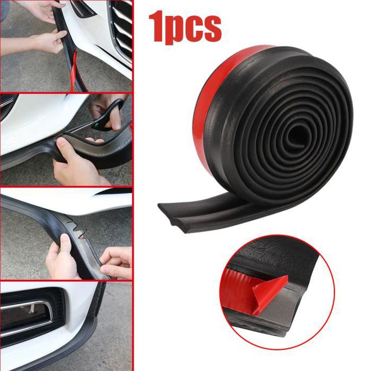 Gris 2 pcs//paire auto Protecteur de protection de pare-chocs avant et arri/ère anti-frottement Bord de l/èvre autocollant de bande Autocollant de bande de protecteur de pare-chocs de voiture
