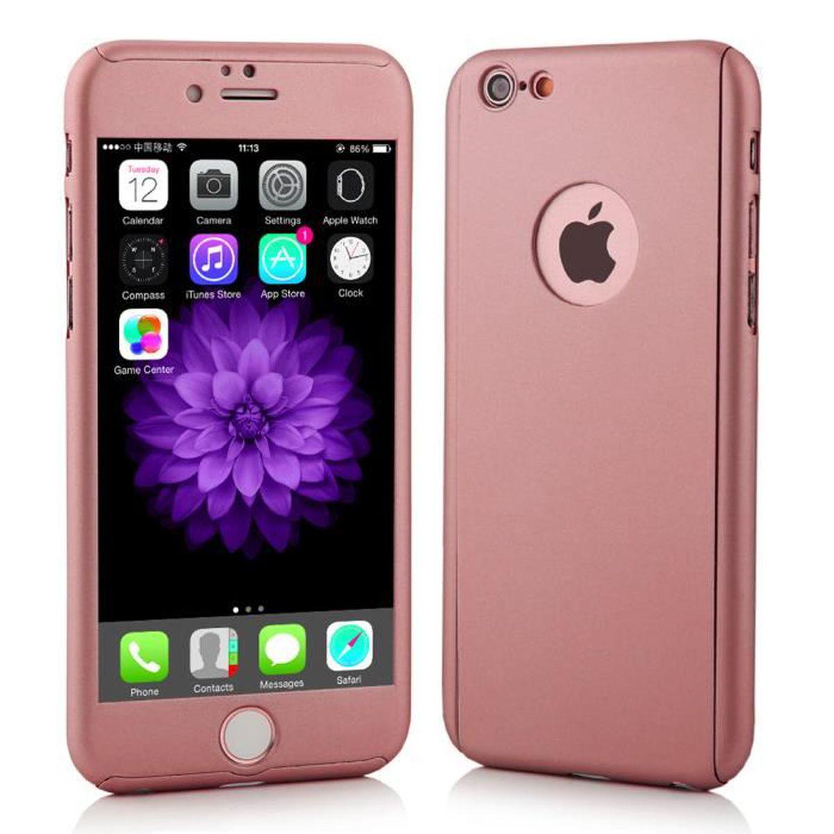coque iphone 7 rose or