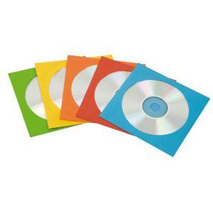 RANGEMENT CD-DVD Enveloppe cd/dvd en papier assorties - pack de 50