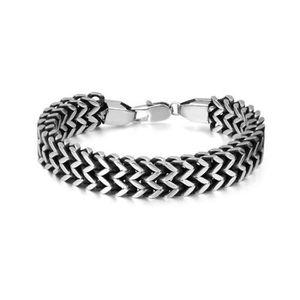 """Argent Acier Inoxydable Franco Chaîne Cubain Serpent Os Bracelet 6 mm 22cm//8.7/"""" L"""