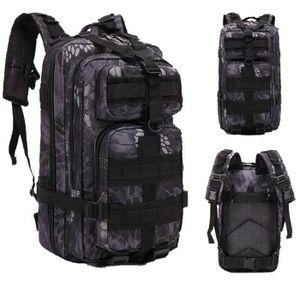 35L//40L Sac /à Dos Tactique Militaire Camouflage Sac /à Dos Trekking Imperm/éable avec USB Sac /à Dos Sport Voyage Cyclisme Escalade,Brun