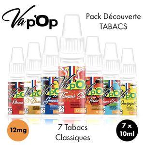 LIQUIDE ✕7 E-liquides Découverte-12mg/mL-Saveurs Tabacs-10