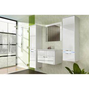 SALLE DE BAIN COMPLETE Salle de bain complète LAGUNA blanc façade laqué,