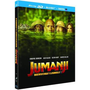 BLU-RAY FILM jumanji bienvenue dans la jungle 2018 blu ray 3d e