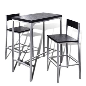 TABLE À MANGER COMPLÈTE Jeu de bar petit-déjeuner à comptoir élevé  -