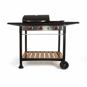 BARBECUE LIVOO - Barbecue gaz gril et plancha - DOC208
