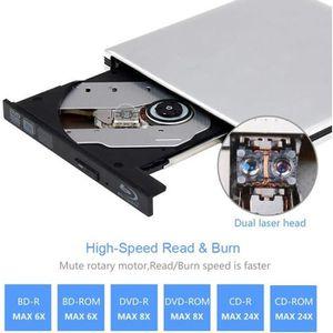 LECTEUR - GRAVEUR EXT. Lecteur DVD Blu Ray 4K 3D Externe Portable Ultra S