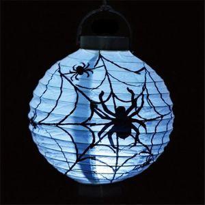 LANTERNE FANTAISIE Halloween Lampion Blanc Araignée LED Lanterne Lamp