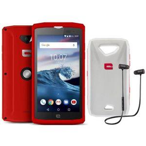 SMARTPHONE CROSSCALL Core X3 Rouge 16Go + OFFERTS Coque flott