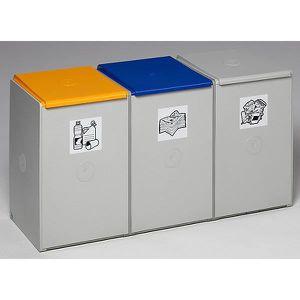POUBELLE - CORBEILLE Poubelle de tri - poste 3 poubelles pour 60 l, lar