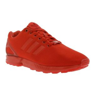 chaussure adidas zx flux rouge