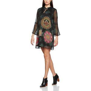 ROBE DESIGUAL Femmes Robe de Vest_jeanne MWK1M Taille-4