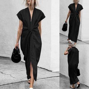ROBE Femmes Mode longue Maxi robe Mesdames cocktail soi
