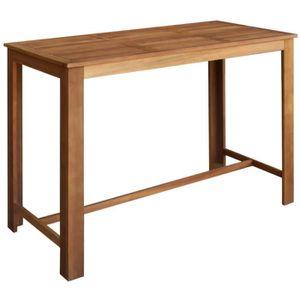 MANGE-DEBOUT Table de bar Bois d'acacia solide 150 x 70 x 105 c