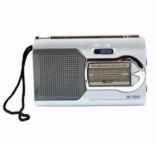 RADIO CD CASSETTE AM / FM Mini radio portable avec haut-parleur réce