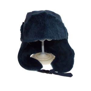 BONNET - CAGOULE Chapka enfant - bleu - doublé fausse fourrure - 10