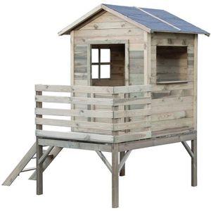 MAISONNETTE EXTÉRIEURE WONDERS - KOOLKIDS Maison cabane en bois sur pilot