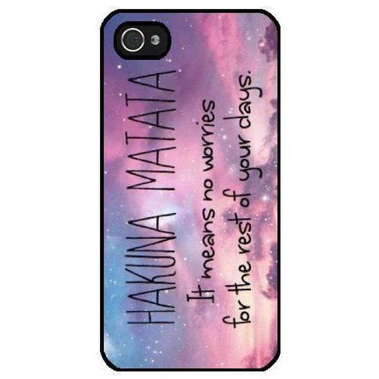 Coque Iphone 5-5S - Hakuna Matata Galaxie - 1443 - Cdiscount ...