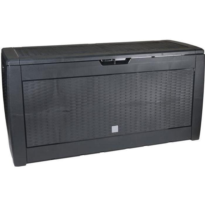 Living Style - Boîte de Rangement de Jardin - 310 litres - Coffre de Jardin - Boîte à Coussins - Noir