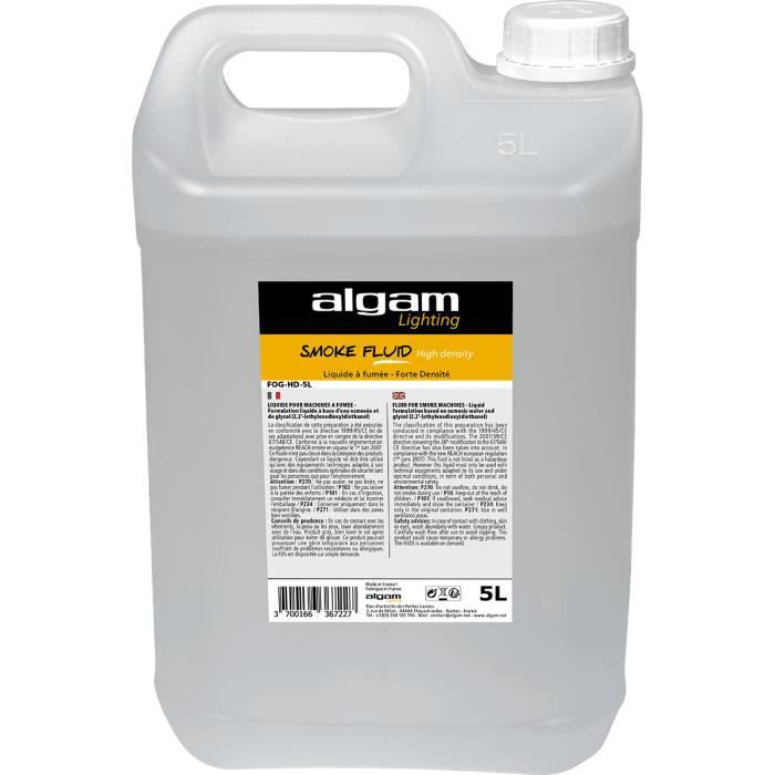 Algam Lighting FOG-HD-5L - Liquide pour machine à fumée forte densité 5 litres