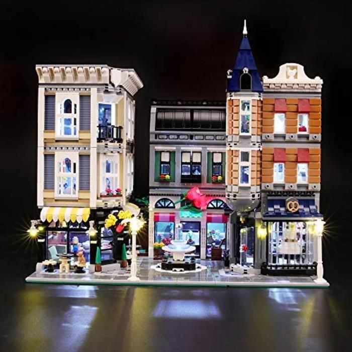 Jeu D'Assemblage IP8ME kit d'éclairage led pour assemblée lego creator square - compatible avec le modèle de blocs de construction l