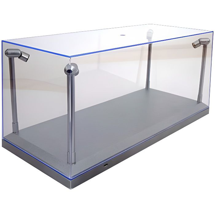 1-18 Acrylic Case with LED Lights Display Case.