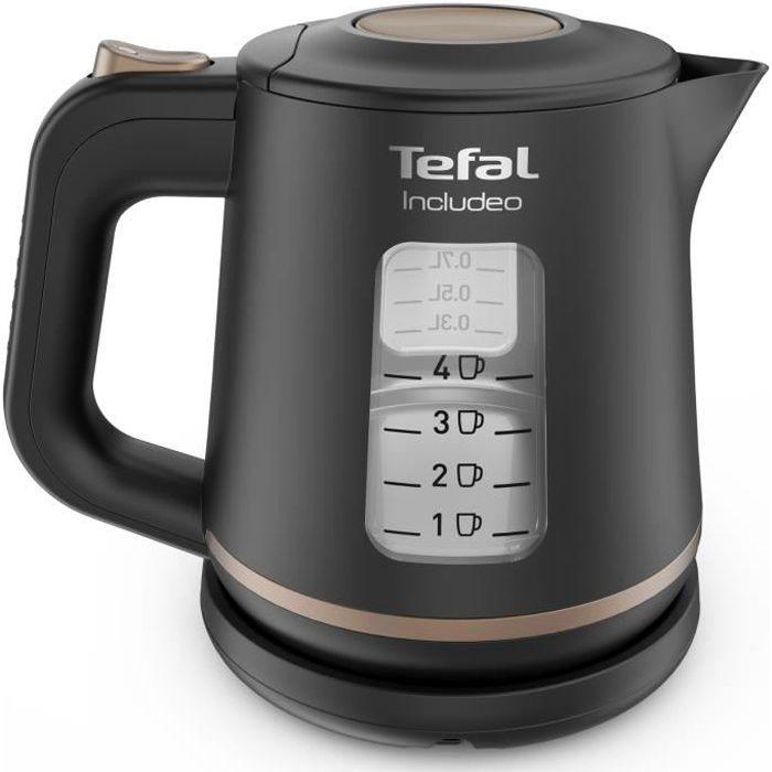 TEFAL KI533811 Includeo Bouilloire électrique 1 L, Poignée ergonomique, Niveau d'eau visible, Base 360°, Filtre amovible