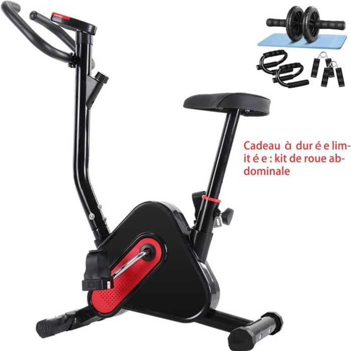 Vélo d'Appartement Pliable avec dossier - Vélo biking - magnetique intérieur maison bureau exercice entrainement 120kg + moniteur