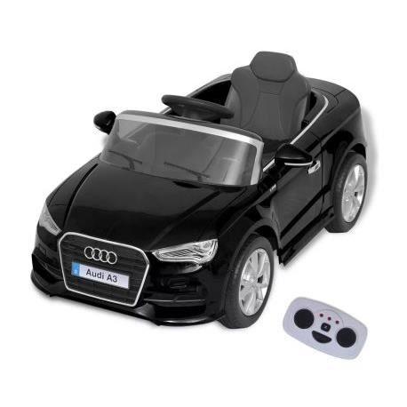 Voiture Électrique pour Enfants - Télécommandée Audi A3 - 2,8 Km-h - 6V-4,5 Ah - Noir