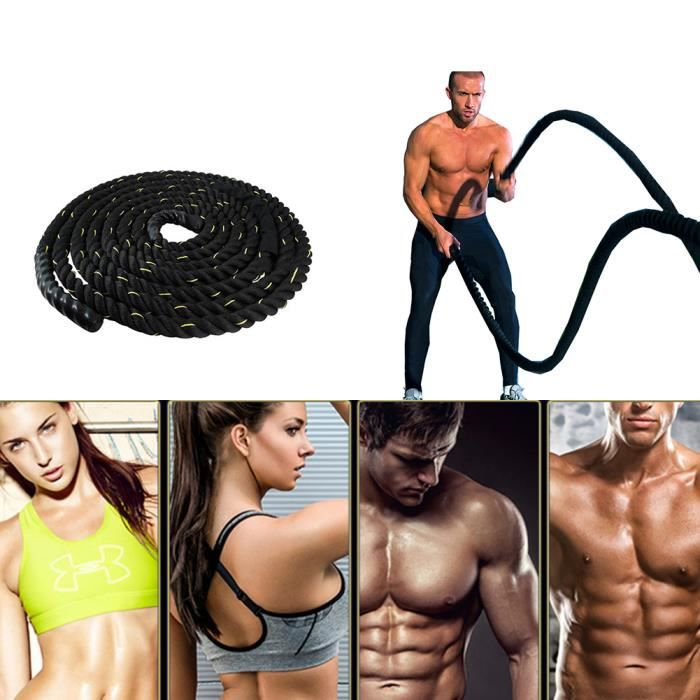 PERFECT 38MM 15M CORDE D'ENTRAINEMENT POLYESTER FITNESS FORCE EXERCICE MUSCULATION