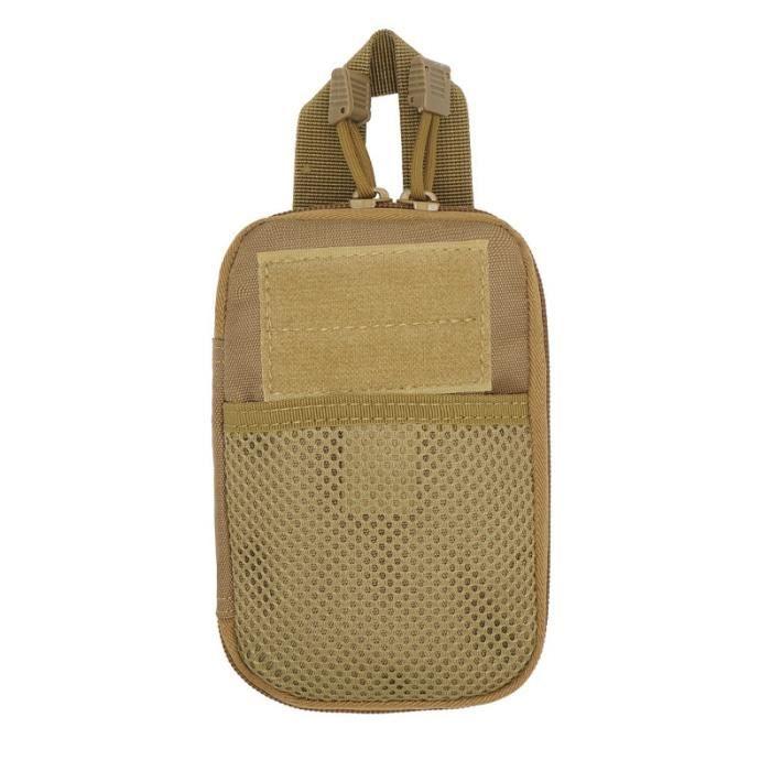 khaki -Sac de ceinture militaire pour hommes, pochette de hanche, ceinture, téléphone, étui portefeuille en Nylon Molle, vente Flash