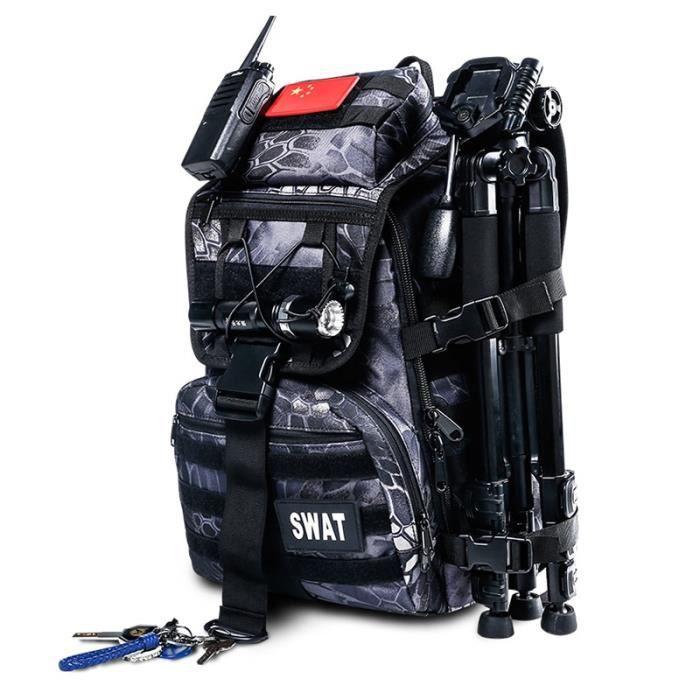 Pythons Black 30 - 40L -mala tatica militaire sac à dos 40l sac tactique peche randonnee homme impermeable sac a dos pochette milita