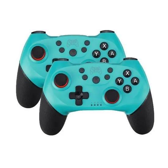 2pcs Manette sans fil Pro Controller Manette de jeu Gamepad Télécommande console PR Nintendo Switch.