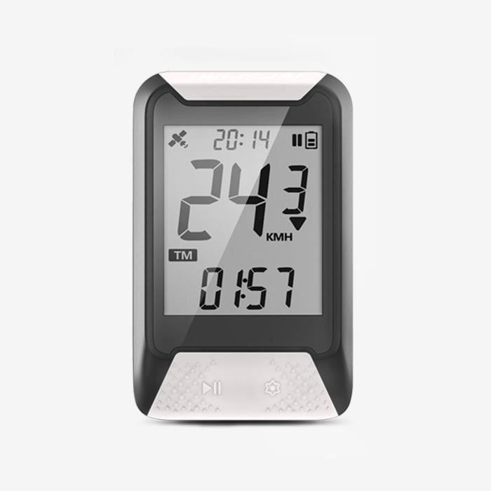 Compteur GPS - iGS130 - Compteur de Vélo GPS Simplifié - Couleur:Gris