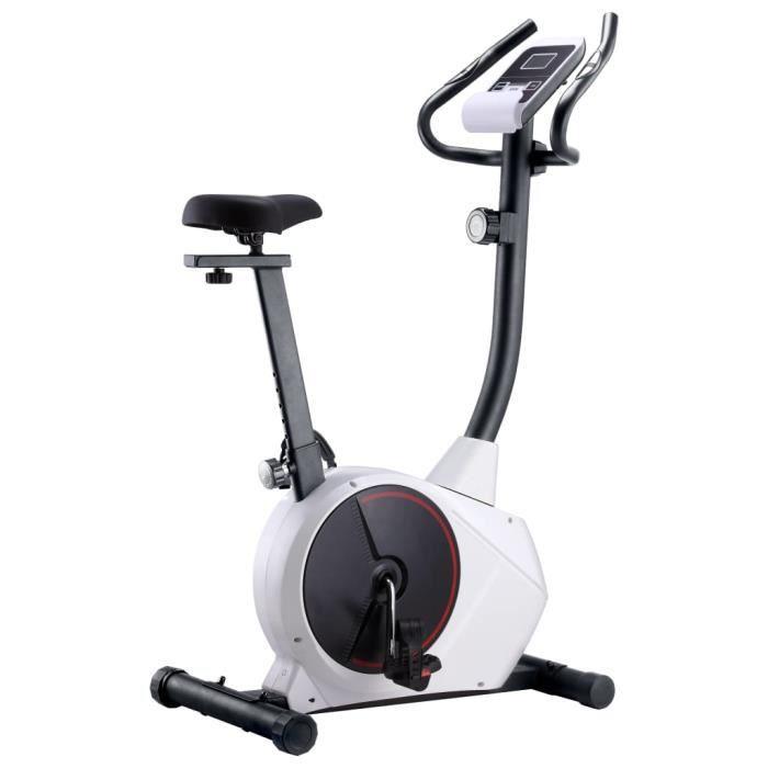 Vélo d'appartement - magnétique Vélo d'Exercice d'Intérieur - Vélo elliptique avec mesure du pouls Super *109526