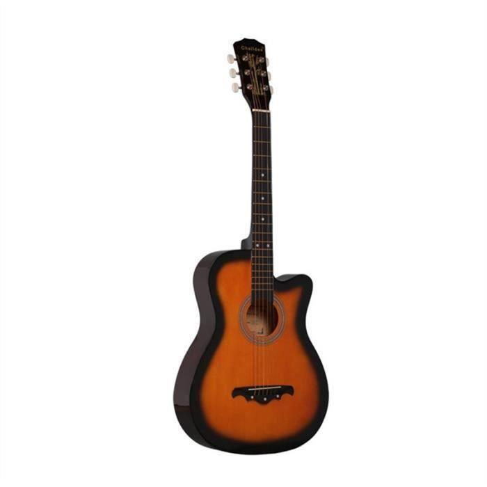2018 38 pouces acoustique 18 frettes folk guitare en bois débutant basswood durable style vintage instrument de musique