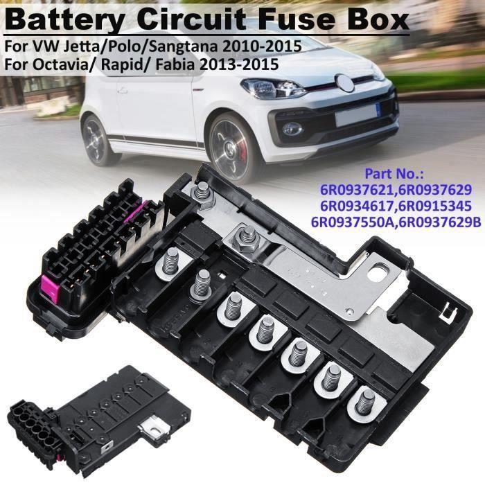 Boîtier à fusibles pour batterie VW Jetta Polo Sangtana-Octavia-Rapid-Fabia # 6R0937621 Wir26