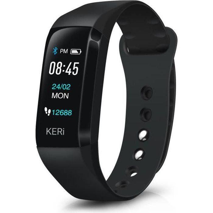 Bracelet Connecté Cardio Sport Santé Oxymètre – Audar KERi – Fréquence Cardiaque Distance - Montre Connectée Fitness Tracker