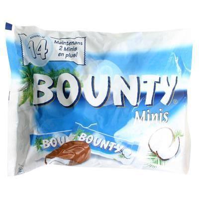 Bounty Lait Minis [Sachet de 14 pices]