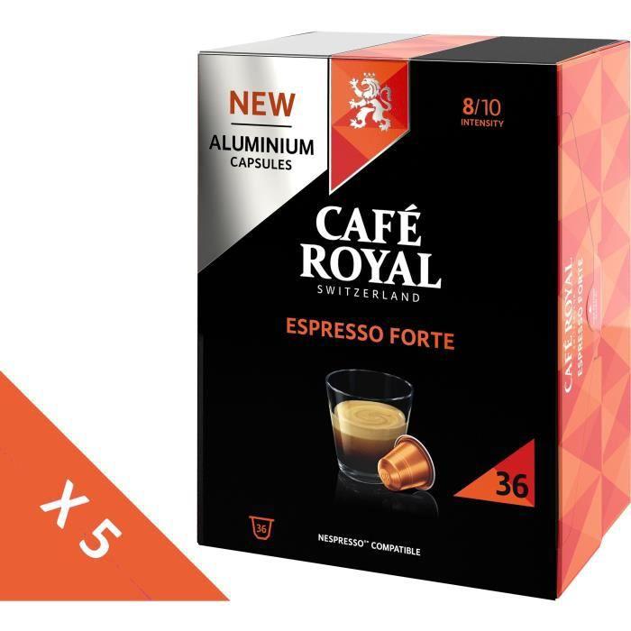 [Lot de 5] CAFE ROYAL Café compatible Nespresso Alu Espresso Forte x36