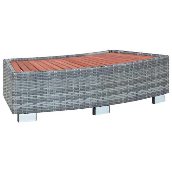 WONG Boîte de rangement de jardin Gris 120x50x60 cm Résine tressée